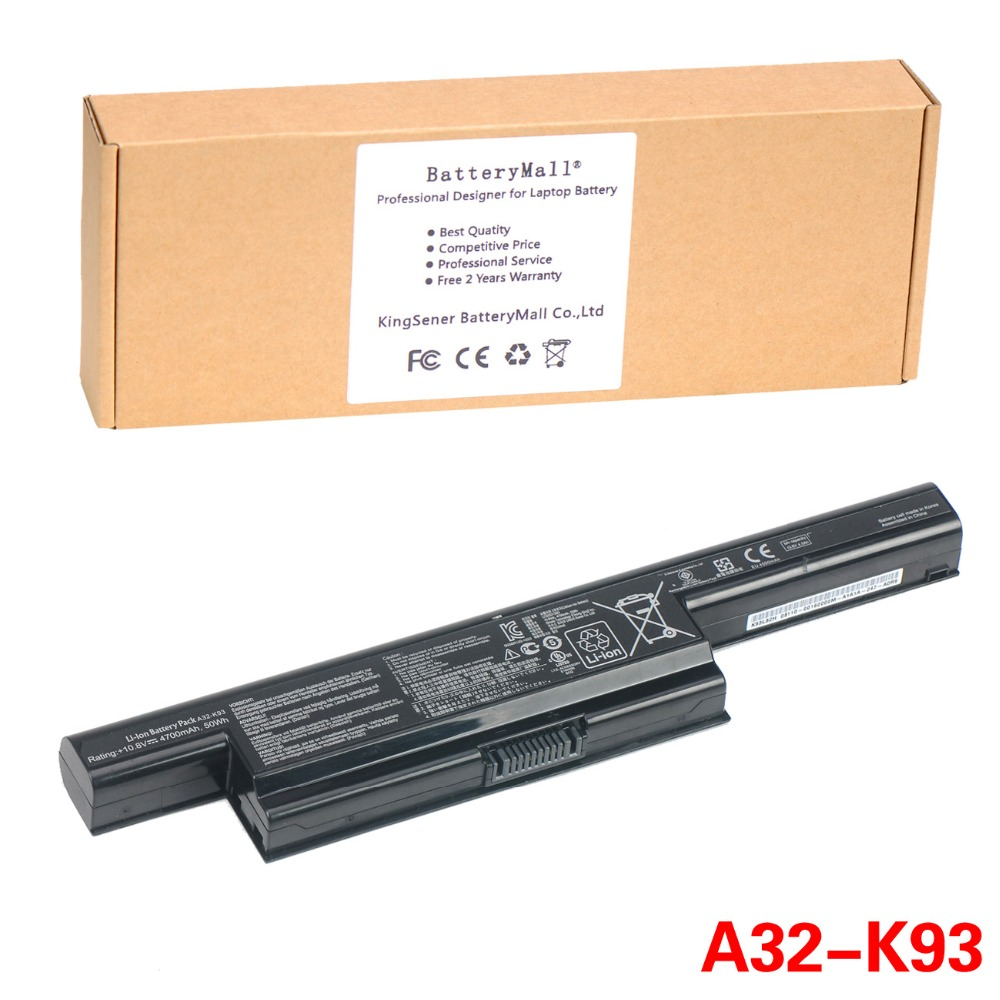 Korea Cell KingSener Original A32-K93 Laptop Battery For ASUS A93 A93S A93SV K93 K93S K93SM K93SV K95 A41-K93 A42-K93 4700mAh 62wh korea cell original new laptop