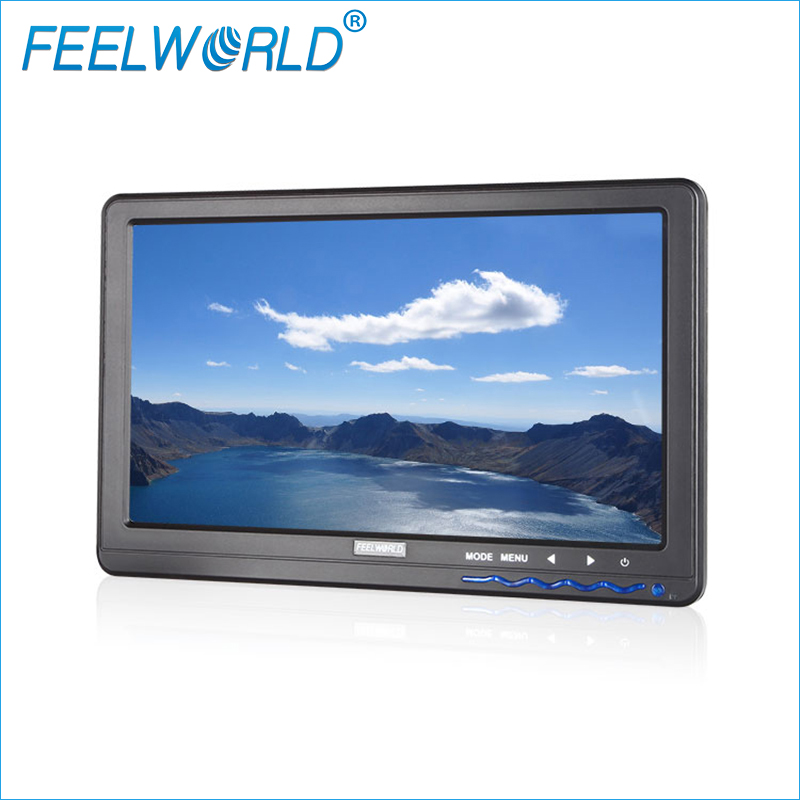 FPV101A 10 Inch IPS FPV Monitor with HDMI VGA Audio Video for Aerial Photography Ground Station Feelworld 10inch FPV Monitors