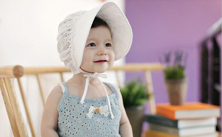 Korean New Lace Girl Mesh Headband Princess Headdress Big Brim Hat Child Cotton Hair Accessories 10pcs
