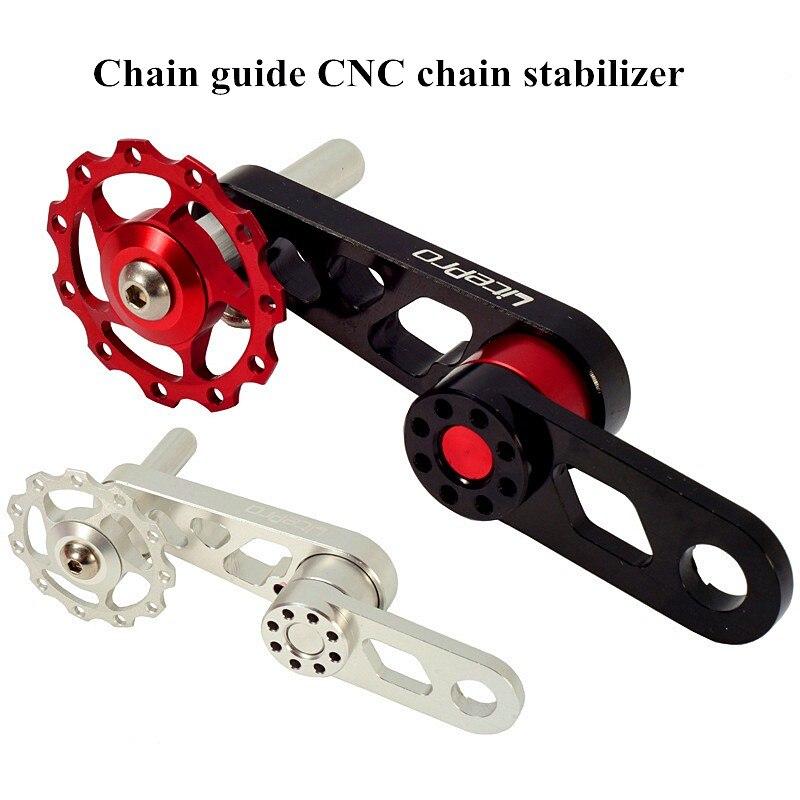 Aluminum Alloy Bike Derailleur Chain Tensioner Folding Bike Guide Wheel