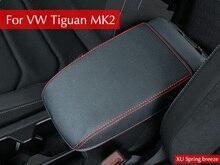 Для VW Tiguan mk2 2016 2017 2018 подлокотник консоли Pad обложка подушки Поддержка коробка топ коврики лайнер автомобиля S