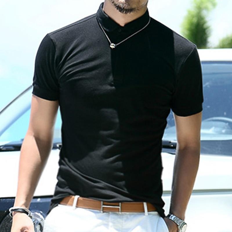 Új 2018 férfi MIX márka póló férfi polos férfiak pamut rövid ujjú póló tömör póló ing alkalmi lélegző sportruházat