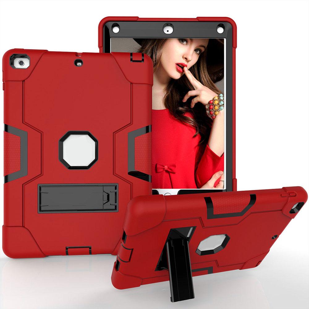 PC+ силиконовый защитный чехол для планшета универсальный для 18/17 Ipad 9,7 кожа прочный - Цвет: Red Black