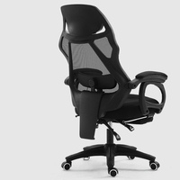 Mesh Cloth Household Computer Chair Multi function Massage Lifted Rotated Office Chair Reclining Swivel Chair with Footrest