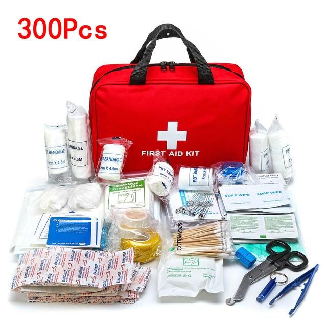 Portable 16-300Pcs Emergency Survival Set First Aid Kit for Medicines Outdoor Camping Hiking Medical Bag Emergency Handbag 1