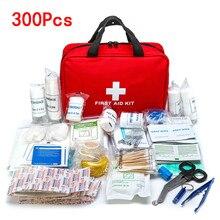 Conjunto de primeiros socorros para acampamento, portátil, 16 300 peças, sobrevivência de emergência, kit de primeiros socorros para medicamentos ao ar livre, caminhada, bolsa médica de emergência