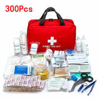 Portátil 16-300 Uds Kit de supervivencia de emergencia Kit de primeros auxilios para medicamentos Camping al aire libre senderismo bolsa médica bolso de emergencia