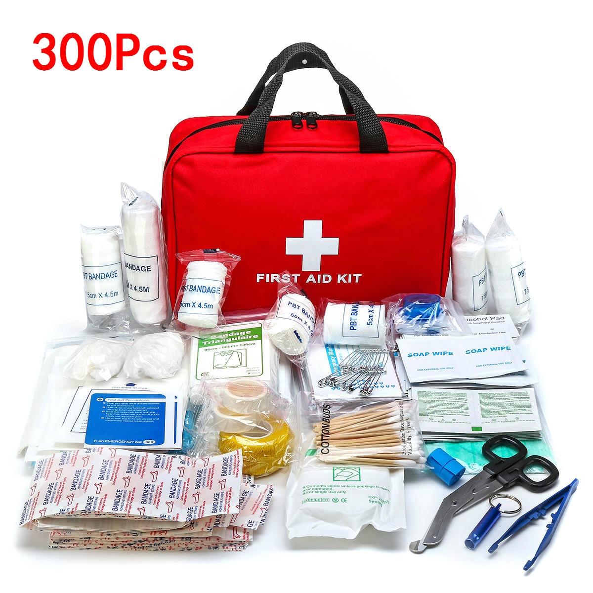 Портативная аптечка первой помощи 16-300 шт., аптечка первой помощи для кемпинга, походов, медицинская сумка, Аварийная сумка