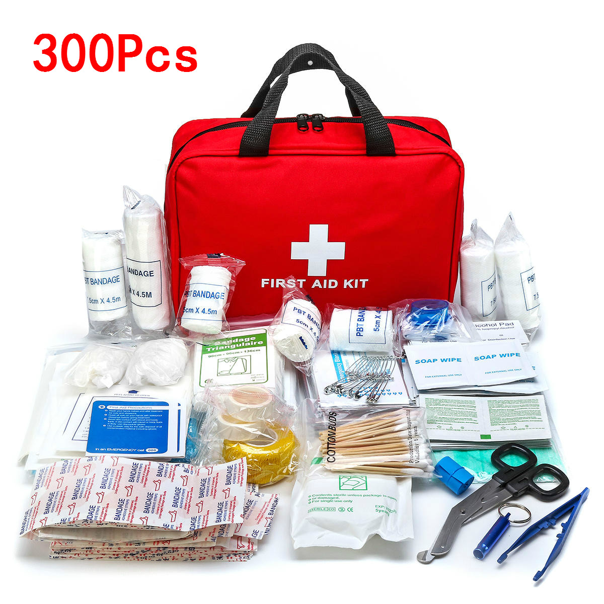 Portable 16-300Pcs Emergency Survival Set First Aid Kit for Medicines Outdoor Camping Hiking Medical Bag Emergency Handbag(China)