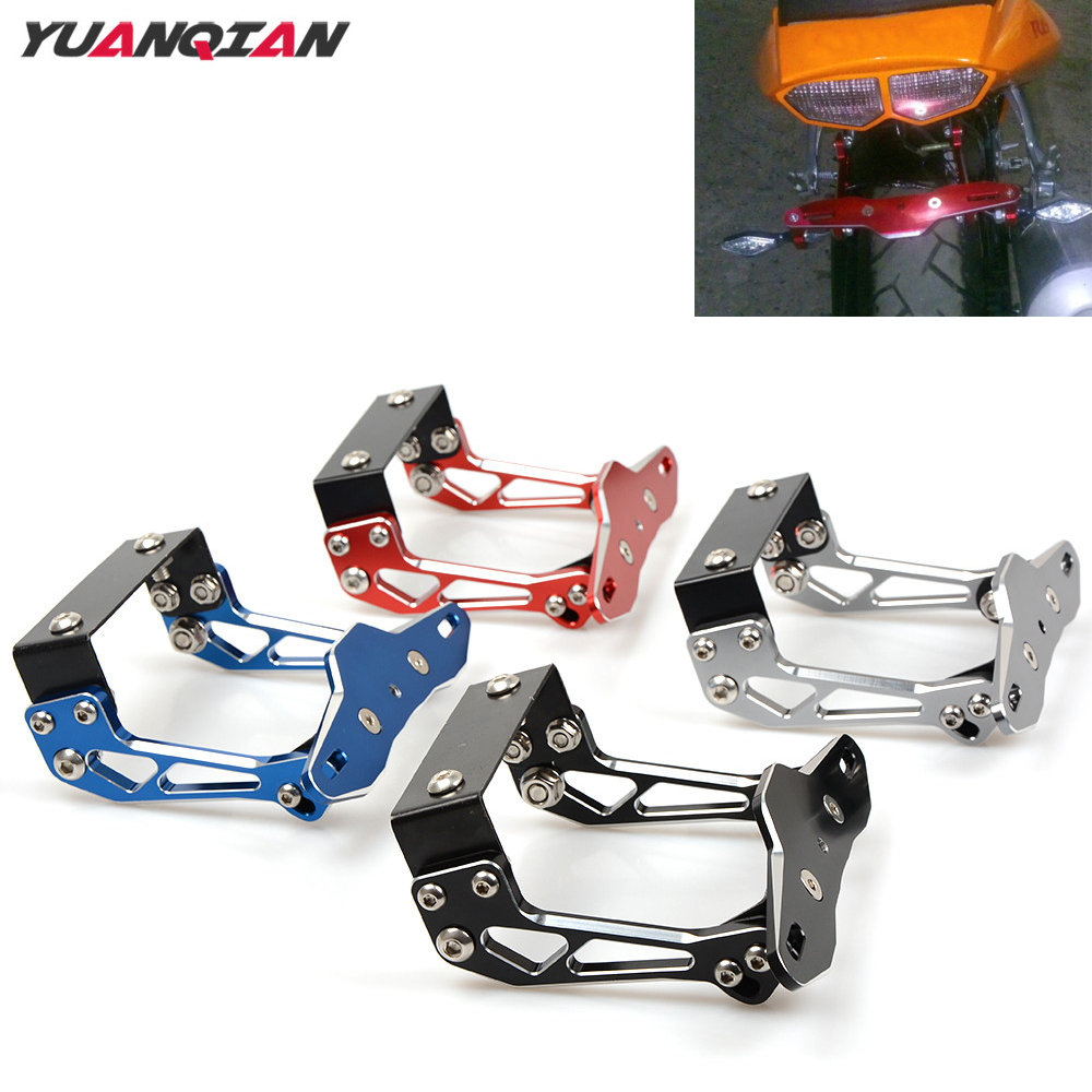 Universal Motorbike License Plate Bracket Holder For Honda GROM MSX125 MSX 125 PCX 125 150 CB600F CBR 600 F4i RC51 CBR650F CB919
