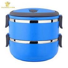 2 Schichten 1400 ML Thermische Bento Lunch Box Thermos Für Lebensmittel Edelstahl Isolierung Lagerung lebensmittelbehälter Geschirr sets