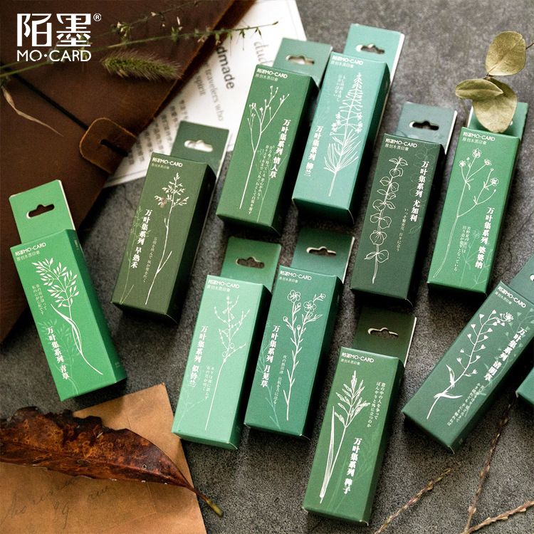 Vintage Plants Grass Eucalypti Stamp Diy Wooden Rubber Stamps Seal For Scrapbooking Student Prize Promotional Gift Stationery