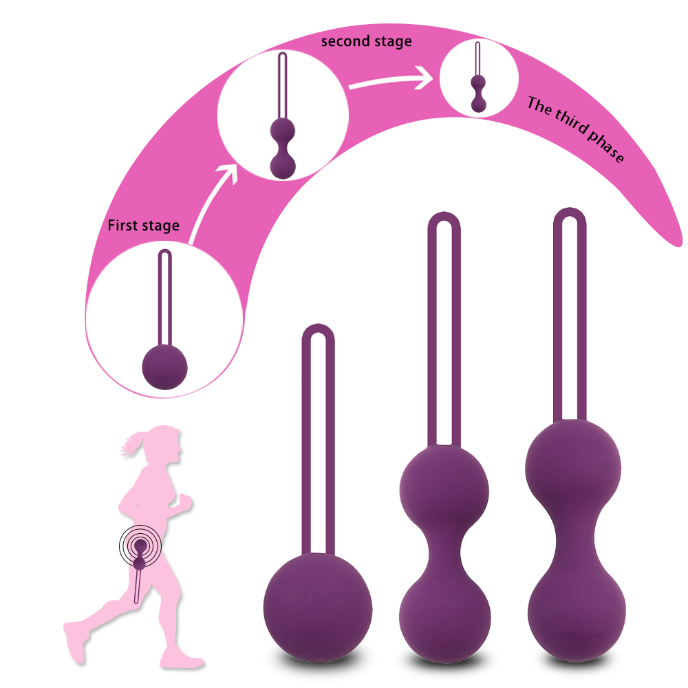 Kegel Balls Smart love ball Vaginal tighten exercise machine Vibrator ,Vaginal Geisha Ball Ben Wa ball Sex toy for Woman 100% medical silicon vibrator kegel balls vibrator sex toys bolas vaginal ball tighten aid love geisha ball ben wa for woman