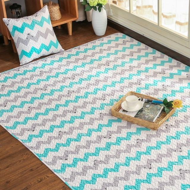 Tapis en coton tapis de Yoga pour chambre denfants conception de bande dessinée de taille multi 4 Styles tapis pour fenêtre de salon