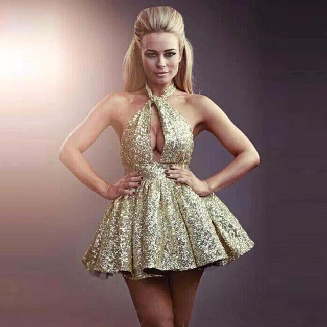 326fbf53f Sexy Bling lentejuelas vestidos de cóctel 2016-Vestido corto vestidos de  fiesta cortos Vestidos de