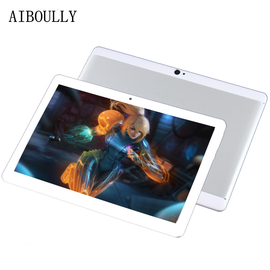 AIBOULLY 10.1 Inch Android Tablet PC 7.0 OS Nougat 4GB RAM 64GB Original 3G Phone Call Tablet Dual SIM Camera GPS WiFi FM 9.7''
