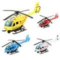 Модель полицейского вертолета литья под давлением (1/43 масштабе), мини-игрушка, развивающие игрушки, подарки для детей, мальчиков