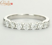 Solid 14K Gold Natural 0.77ct Pave Set Diamond Engagement Ring Wedding Band