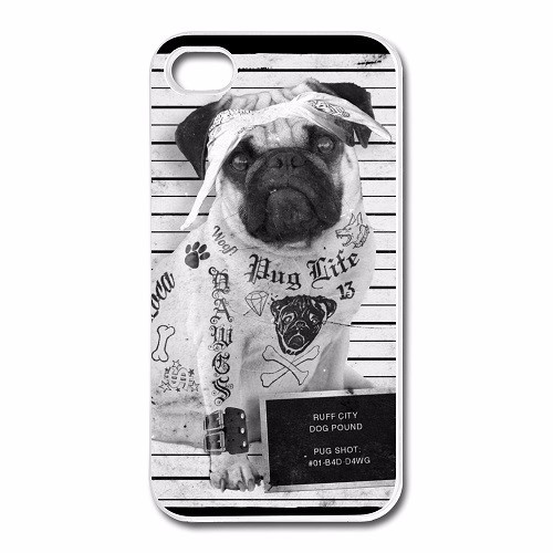 Design-For-Iphone-4-4s-Case-Pug-Life-Cool-Image-Cases-For-Iphone-4-Unique-Design
