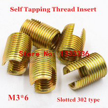 Inserts Bushing Screw Self-Tapping-Thread M3 302 100pcs Slotted-Type Steel Zinc-Plated