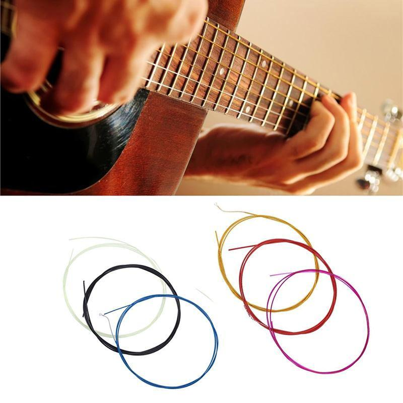 Yuker New 6 Pcs Colorful Classical Guitarra Strings Guitar Strings Colorful Nylon Coated Copper Alloy Wound Guitar Accessories