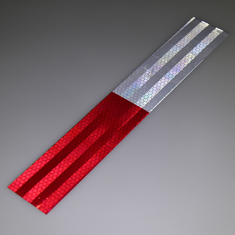 Factory 5CM * 30CM Car Body Reflective Stickers Truck Reflective Strips Red White  Annual Review Reflective Logo Warning Tape