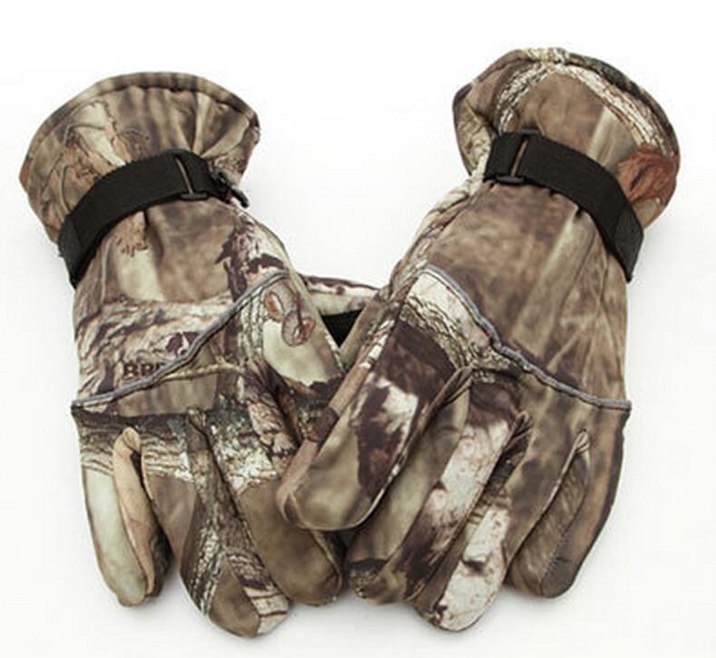 Winter Ski Gloves Camouflage Thicker Waterproof Combat Gear Military Gloves