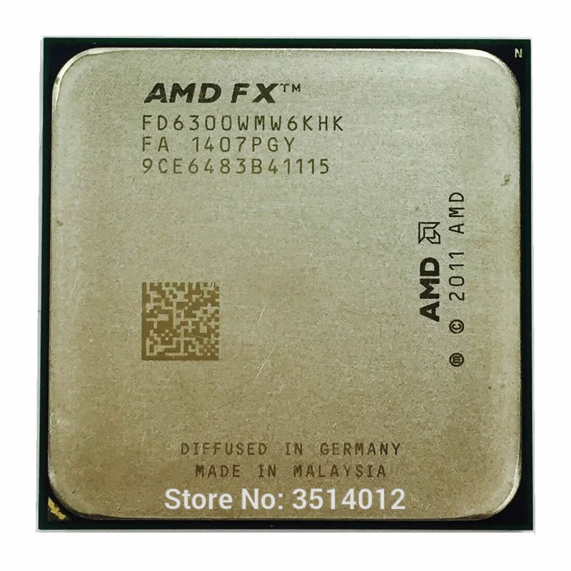 AMD FX Series FX 6300 FX 6300 3 5 GHz Six Core CPU Processor FD6300WMW6KHK Socket