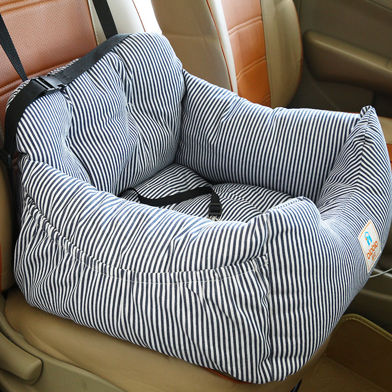 Luxury Striped Dog Pet Bed Car Seat Washable Outdoor Beds Mats Cat Bedding For In Houses Kennels Pens From Home Garden On