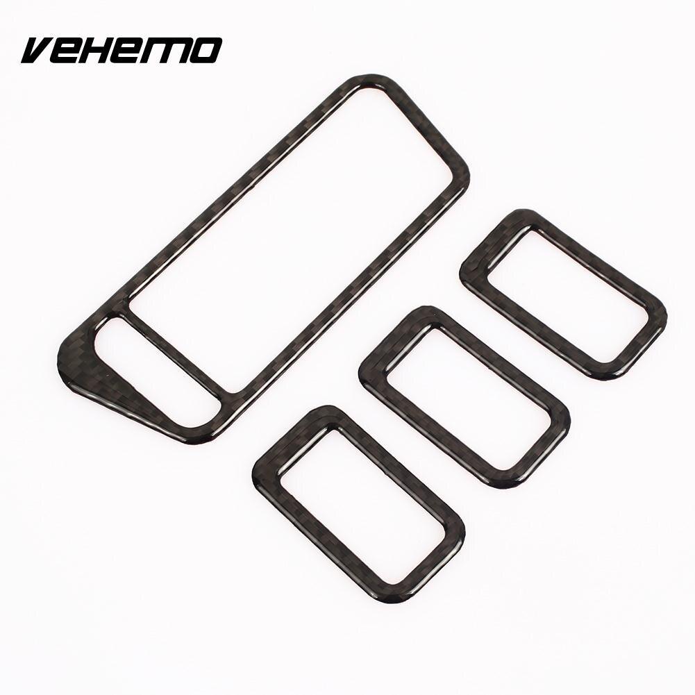 Vehemo Interior Stickers Auto Stickers Car Stickers Carbon Fiber Window Lifter Creative Decorations Vehicle Car Accessories