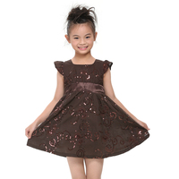 Nova Kids 2015 Summer Children Clothes Girl Clothes Short Sleeve Causal Style Dress Newest Design Hot