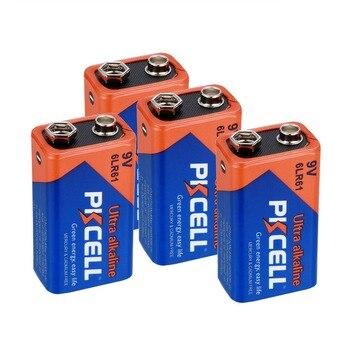 4pcs 9V  Alkaline Batteries 6LR61 1604A 6LF22 EN22 MN1604 Non-rechargeable Batteies