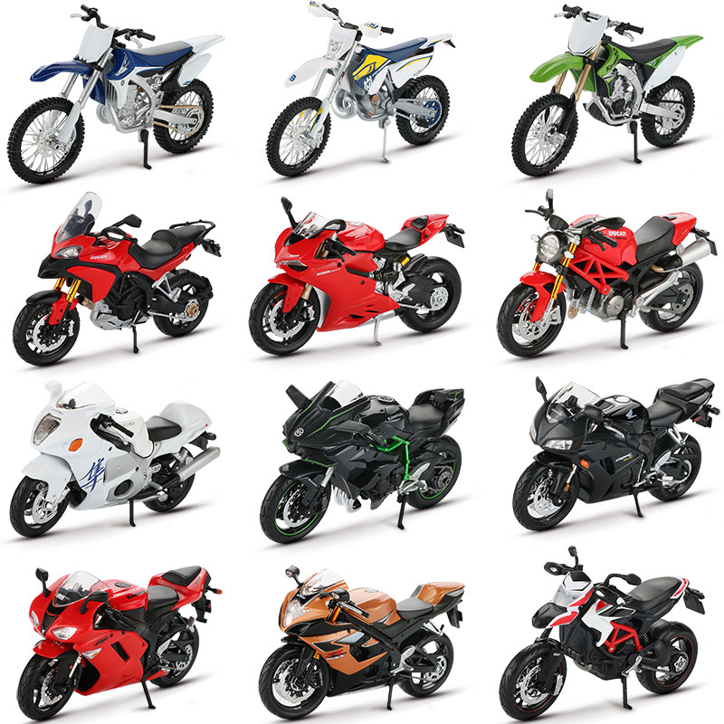 Maisto 1:12 Alloy Motorcycle Model Toy Motorbike Ninja H2R CBR600RR YZF-R1 Motorcycle Racing Car Models Cars Toys For Children(China)