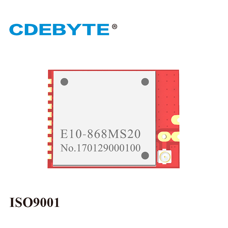 E10-868MS20 Small Size SPI SX1212 868mhz 100mW IPX/Stamp-hole Antenna IOT Uhf Wireless Transceiver(transmitter/receiver) Module