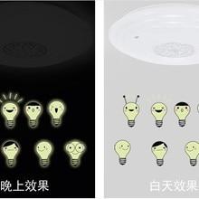 Наклейки на стену домашний Декор с фабрики милая маленькая флуоресцентная лампочка светящаяся масса DIY наклейки на стену