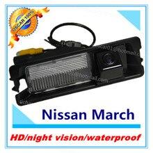 Бесплатная доставка ночного Версия CCD камера заднего вида Водонепроницаемый Парковка камера для Nissan March Renault Logan Renault Sandero автомобиля