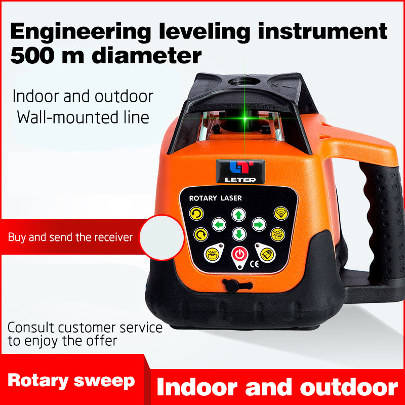 NEW LETER Fully automatic electronic leveling rotary laser leveling instrument infrared green light level