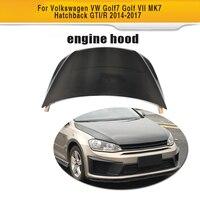 Carbon Fiber front bumper Bonnet Machine hood Cover for Volkswagen VW Golf 7 VII MK7 Hatchback GTI R 2014 2017 Non Standard