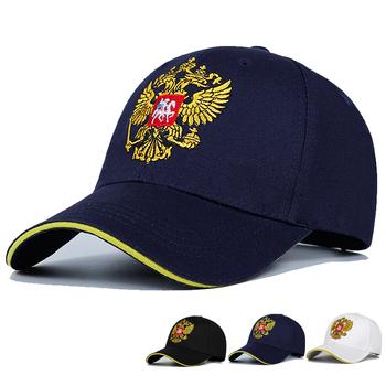 Nowa neutralna bawełniana czapka bejsbolówka odznaka rosyjska haft Snapback moda czapka sportowa mężczyźni i kobiety z kapeluszem Patriot tanie i dobre opinie Dla dorosłych COTTON Unisex Jeden rozmiar Na co dzień Cartoon Regulowany Czapki z daszkiem