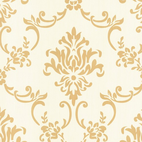 European Style Vinyl Wallpaper Rolls White Yellow Floral Wallpaper Mural Pvc Waterproof