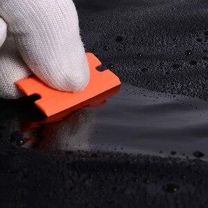 Image 3 - Foshio 200 pcs 더블 에지 면도날 탄소 섬유 스티커 리무버 창 유리 청소 면도기 스크레이퍼 비닐 자동차 랩 스퀴지