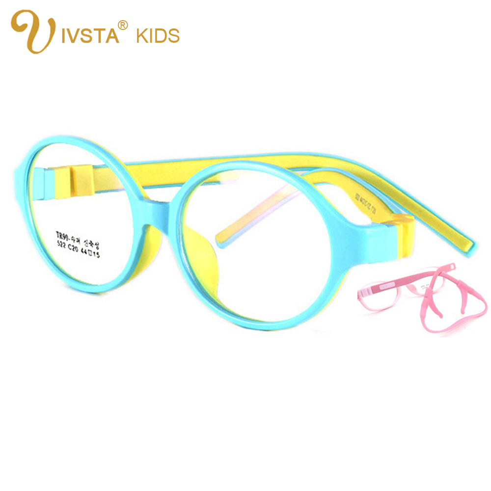 de9279c3e9 IVSTA 44 15 125 522 TR90 Kids Optical Frame Silicone Children Glasses with  Strap retainer holder Sports boys girls prescription-in Eyewear Frames from  ...