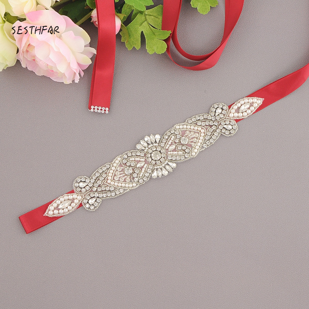 Trixy S35 Free Shipping Rhinestones Belt Wedding Sash Silver Diamond Crystal Bridal Belt Wedding Gown Wedding Decoration Orders Are Welcome. Wedding Accessories