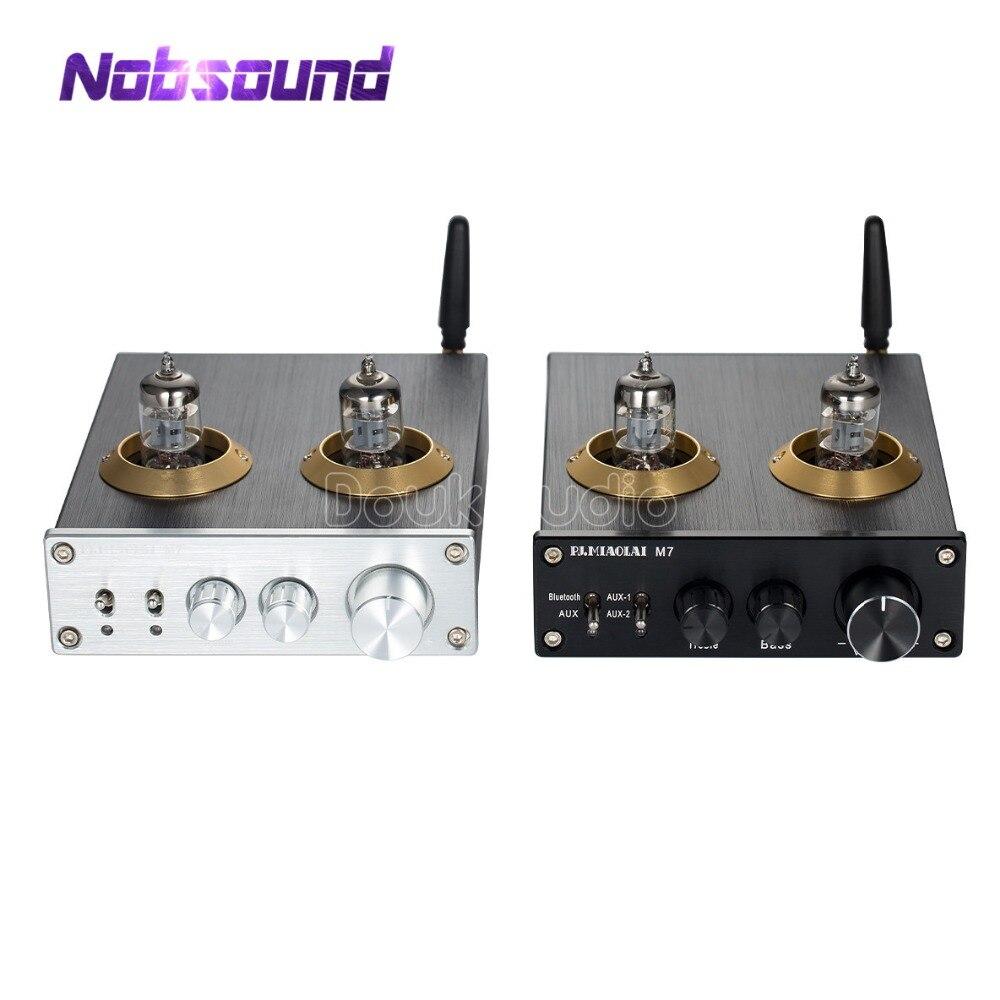2018 Dernière Nobsound Bluetooth 4.0 HiFi Vide 6J1 Tube Amplificateur Stéréo Tube Préamplificateur Avec Aigus Basse Contrôle De Tonalité