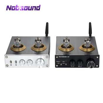 Latest Nobsound Bluetooth 4 0 HiFi Vacuum 6J1 Tube Amplifier Stereo Tube  Preamplifier