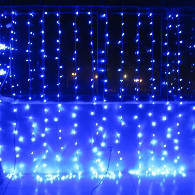 220V bule 400 LEDS 3 M * 3 M LED Rideau Cascade De Noël Partie - Éclairage festif - Photo 2