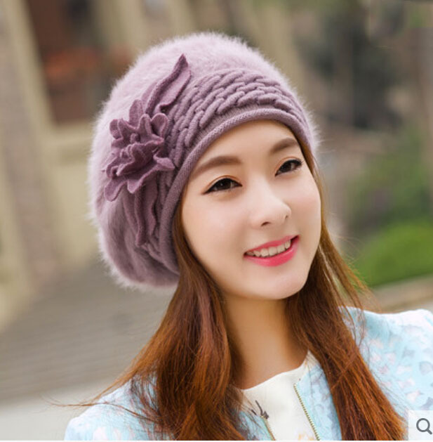 2016 fashion wool pompom hat top quality girl casual Bonnet cap for ... 30682d43033
