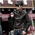 Free shipping New PU mens leather jacket men's Leather Motorcycle Jacket slim casual overcoat.
