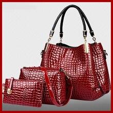 2015 del nuevo Bolsas Femininas bolsos de mujer de cuero de alto grado mujeres mensajero del hombro de lujo bolsos Crossbody 3 Sets Bolsas