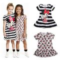 2016 Summer Kids Dress Fashion Min nie Mouse Princess Girl Dress For Children Clothing Girls casual Party Costume